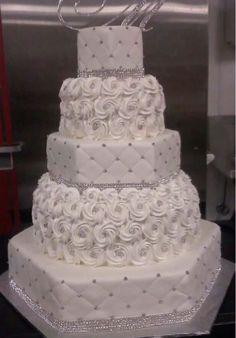 Extravagant Wedding Cakes, Bling Wedding Cakes, Amazing Wedding Cakes, Wedding Cakes With Cupcakes, White Wedding Cakes, Elegant Wedding Cakes, Wedding Cake Designs, Rustic Wedding, Fall Wedding
