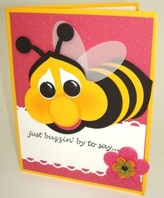 bee made from circle punches and oval and bulb punch
