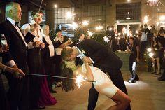 sparkler kiss | Melissa Schollaert #wedding