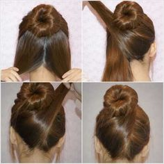 A twist to the typical a sock bun.