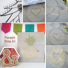 DIY Pineapple Stringart how to from MichaelsMakers The Crafting Chicks