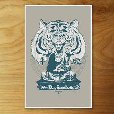 Buddha Tiger Print 11x17  by Urban Octopus