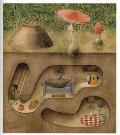 иллюстрации литовского художника и сказочника Kestutis Kasparavicius
