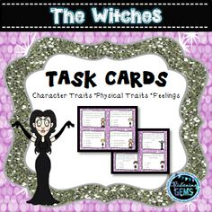 The Witches {Roald Dahl} - Character Trait Task Cards - multiple choice format and answers.
