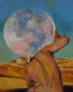 Atlas Art Print by Michael Creese. All prints are professionally printed, packaged, and shipped within 3 - 4 business days. Art And Illustration, Illustrations, Painting Inspiration, Art Inspo, Mythology Paintings, Canvas Prints, Art Prints, New Art, Cool Art