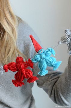 Make Yarn Doll Garland | willowday
