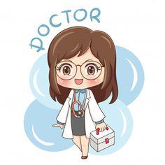 Cute Cartoon Pictures, Cartoon Pics, Cartoon Drawings, Cartoon Art, Cute Drawings, Dibujos Toy Story, Doctor Drawing, Medical Wallpaper, Girl Doctor