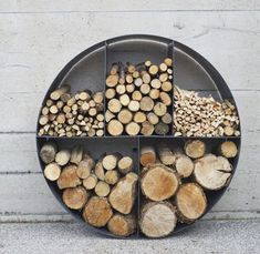 The Log Store No 2 is our most popular store by far! Standing at high its a wonderfully understated yet striking feature. It turns a scrappy pile of wood into a focal piece in your home or garden. The Log Store No. 2 is made from either alum. Indoor Firewood Rack, Firewood Holder, Firewood Storage, Range Buche, Log Holder, Wood Shed, Wood Logs, Outdoor Fire, Fireplace Design