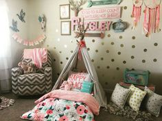 Wild and free toddler room. Tee pee Montessori bed on the floor.: