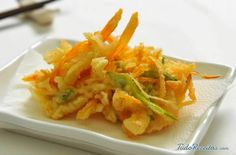 Tempura de legumes crocante, deliciosa sugestão para entrada. Clique na imagem e aprenda a preparar!
