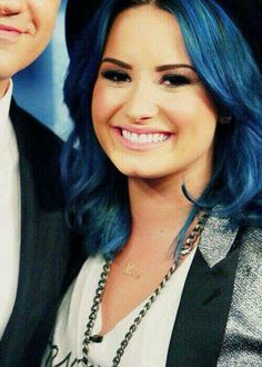 Demi Lovato blue hair Demi Lovato Blue Hair, Celebs, Celebrities, Hair Makeup, Hair Color, Colorful Hair, Idol, Famous People, Beautiful People