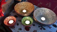 Funkelnde Dekoschalen als #Geschenkidee zur #Weihnachten #basteln #diy #dekoschalen #deko