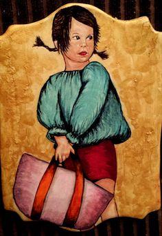 Seguimos de #rebajas con esta niñita pintada sobre fondant de la mano de Los Dulces De KOLO. Gracias Lorena Aparicio Tarin por tus consejos, estamos aprendiendo un montón sobre pintura.