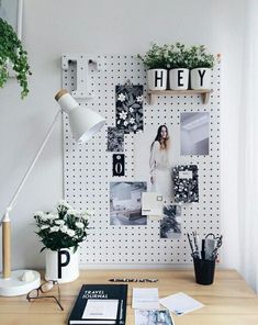 peg board for office inspiration