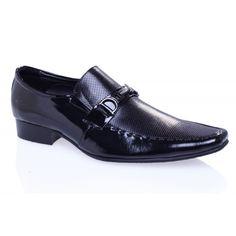 Sepatu pria formal DV 125 Black Leather MARELLI