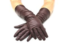 Brown gloves. Made in France, kid leather, coco brown gloves. Find it on Etsy