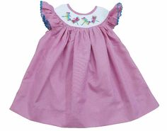 Dragonfly Smocked Summer Bishop Dress by ButterbeanKid on Etsy
