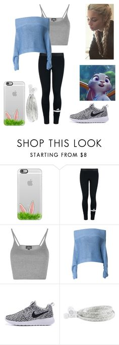 """""""Carrots v 2.0"""" by neon-cheese ❤ liked on Polyvore featuring Casetify, adidas, Topshop, TIBI and Chic Buds"""