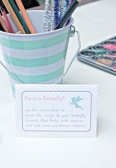 fluttery fun + games. | 4th birthday fairy party