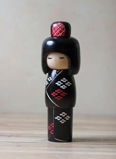 unusual one..  -------- #japan #japanese #kokeshi