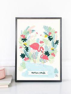 Affiche Maman Poule par Michelle Carlslund - Edition limitée EMOI EMOI - Photo