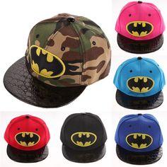 Kids Hip-Hop SnapBack Batman Baseball Cap Children Sports Hats LD789(China (Mainland))