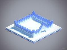Minecraft Ice wall design