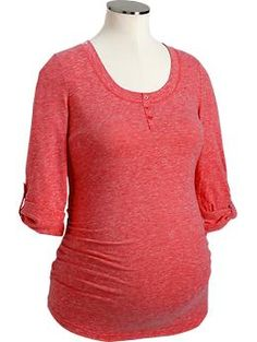 Maternity Tri-Blend Henleys | Old Navy. These look about my speed. $16.99