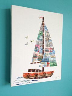 Smooth Sailing Stamp Art