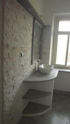 Stockholm paistrelle effetto pietra lysgrau 30x60 realizzazione rivestimento bagno la - Rivestimento bagno in pietra ...