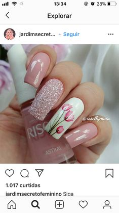 30 Cute Nail Design Ideas For Stylish Brides Best Acrylic Nails, Gel Nail Art, Stylish Nails, Trendy Nails, Toe Nails, Pink Nails, Sqaure Nails, Finger Nail Art, Fabulous Nails