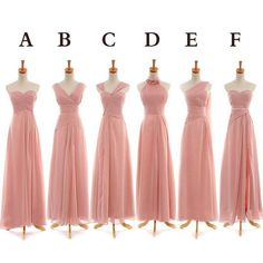 Mismatched Blush Pink Bridesmaid Dresses, Long Chiffon Cheap Bridesmaid Dresses, Elegant Bridesmaid Dress, Custom Bridesmaid Dress, Dress For Weddings Mismatched Bridesmaid Dresses, Wedding Bridesmaid Dresses, Wedding Attire, Dress Wedding, Wedding Entourage, Bridesmaid Ideas, Marie, Dress Long, Dress Prom