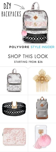 """""""DIY Backpack"""" by zareenk on Polyvore featuring Miriam Haskell, Vanessa Mooney, Herschel Supply Co., Ashlyn'd, backpacks, contestentry and PVStyleInsiderContest"""