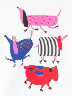 Jana Glatt on Behance Dog Illustration, Watercolor Illustration, Digital Illustration, Animal Illustrations, E21, Raining Cats And Dogs, Kids Prints, Drawing For Kids, Animal Drawings