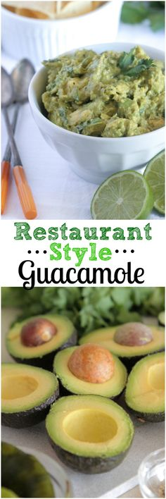 Restaurant Style Homemade Guacamole!  A few simple tricks to make your guacamole the talk of the party! #guacamole #thebest #recipe