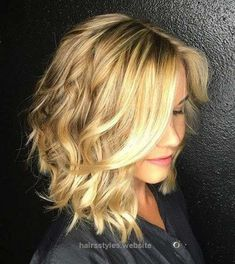 Insane If you have bob hair and blonde hair color, you can produce a really chic and stylish appear with loose waves.Messy and beach waves can be sported with brief bob hairstyles as you can se ..