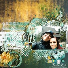 Layout with 7 Dots Studio Paint Chips collection and UmWowStudio products by Tusia Lech