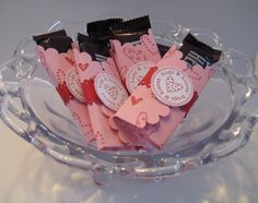 Stampin' Up!  Treat Holder  Rachel Chamberlain  Valentine Scallop Circle
