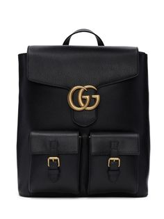 Gucci Black Marmont Backpack from SSENSE (men, style, fashion, clothing, shopping, recommendations, stylish, menswear, male, streetstyle, inspo, outfit, fall, winter, spring, summer, personal)