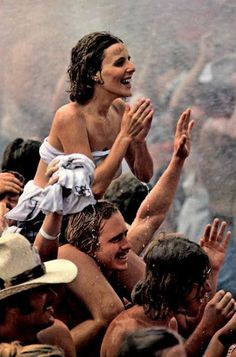 Cool wet hippies at Woodstock