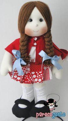 Boneca Pano Chapeuzinho Vermelho 50 Cm
