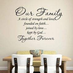 our family together forever quotes wall stickers for living room home decoration removable decals diy vinyl art Diy Wall Stickers, Wall Decals, Together Forever Quotes, Family Wall Quotes, Wall Sayings, Love Wall Art, Black Decor, Room Decor, Cricut