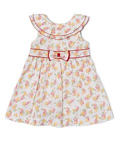 Loving this Yellow & Pink Floral Yoke Dress - Infant, Toddler & Girls on #zulily! #zulilyfinds