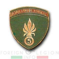5e REI - 5 REI - 5th Foreign Infantry Regiment - 5th REI - Foreign Legion Etrangere - Bataillon de Marche du 5 - BM 5 - French Indochina