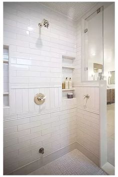 Master Bath Layout, Small Master Bath, Master Bath Shower, Small Bathroom, Master Bathroom, Bathroom Ideas, Bathroom Showers, Master Baths, Basement Bathroom