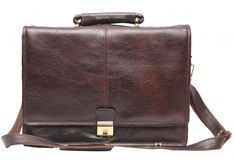 Comfort 16 inch Pure Leather Brown Laptop Bag for men and women unisex EL32