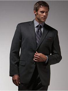 Suits & Suit Separates - Perry Ellis Portfolio Brown Stripe Slim ...