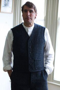 Straight Edge Waistcoat - Old Town Clothing - classic British workwear - Holt, Norfolk, England