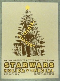 Star Wars Holiday Special  Treebacca Poster by THEYdesign on Etsy