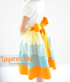 Layered rainbow skirt tutorial